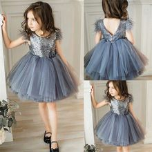 Toddler Baby Girl Princess Kid clothes round neck sleeveless Tassel Tulle Polyester backless Sequin Party Mini Dresses one piece - This is a great hit: Toddler Baby Girl. Baby Girl Party Dresses, Girls Party Wear, Dresses Kids Girl, Birthday Dresses, Party Wear Dresses, Occasion Dresses, Baby Dress, Girl Outfits, Mini Dresses