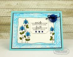 Have Faith Watercolor Panel By: Kendra Wietstock #keepintouch #tayloredexpressions #watercoloring #cardmaking