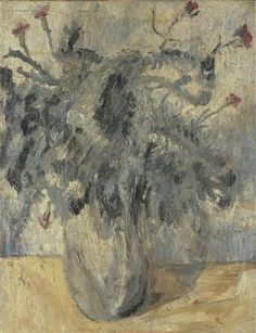dionyssos:  Giorgio Morandi (Italian, 1890-1964), Fiori, c.1914. Oil on canvas, 64.5 x 50 cm.