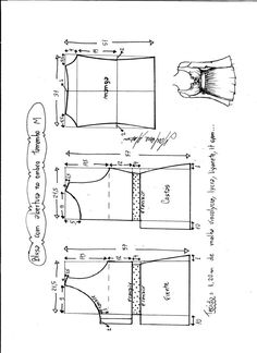The best DIY projects & DIY ideas and tutorials: sewing, paper craft, DIY. DIY Women's Clothing : blusa-abertura-hombro-escote-M -Read Baby Dress Patterns, Baby Clothes Patterns, Kids Patterns, Blouse Patterns, Sewing Patterns Free, Clothing Patterns, Free Pattern, Top Pattern, Make Your Own Clothes