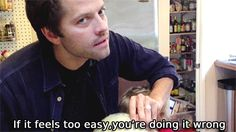 "(gif) ""If it feels too easy, you're doing it wrong."" - Misha"