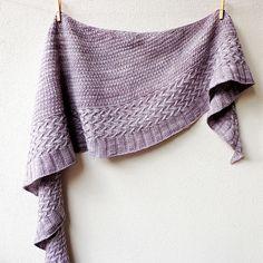 Ravelry: Powdersnow shawl pattern by Lisa Hannes knit in Malabrigo Finito