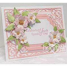 Special Day Dogwood card w/ Flowering Dogwood collection from Heartfelt Creations. #heartfeltcreations
