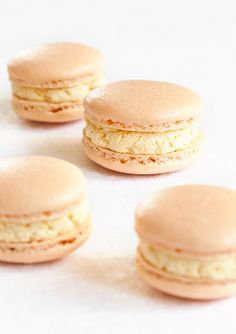 Cloudberry macarons. (Hjortronmacarons.)