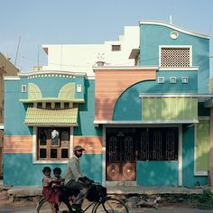 Photographs of the bold, rainbow-hued buildings in southern India that influenced Ettore Sottsass