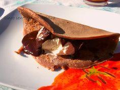 Cinco sentidos na cozinha: Crepes de chocolate com gelado
