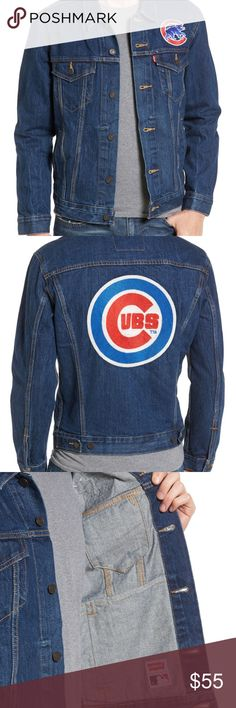 NWT Levi's Men Chicago Cubs Demin Jacket / S and L NWT Levi's Men Chicago Cubs Demin Trucker Jacket / Size S and L Levi's Jackets & Coats