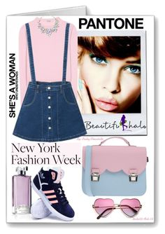 """Pack for NYFW!"" by pinky-chocolatte ❤ liked on Polyvore featuring Guerlain, Miu Miu, adidas, La Cartella, women's clothing, women, female, woman, misses and juniors"