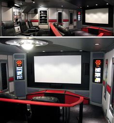 This Star Trek shrine: | 13 Home Theaters We'd Pay To Watch Movies In