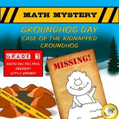 Engage and motivate your students to practice a variety of maths skills with this fun Groundhog Day themed Math Mystery!  Trouble has struck Mathhatten! Chuck the Groundhog has been kidnapped! A great math detective is needed to solve the case and save Chuck. Check out more great products @ https://www.teacherspayteachers.com/Store/Mrs-Js-Resource-Creations