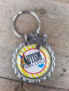 ON SALE Autism Awareness Keychain  Autism by tracikennedy on Etsy, $4.00