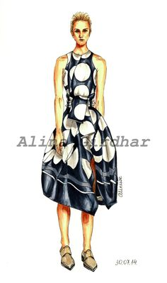 You are welcome to visit my Etsy-shophttp://www.etsy.com/shop/LOOKillustratedto get a fashion illustration for yourself or loved ones! Also you can contact me by e-mail aliniwe@gmail.com