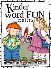 Enter to Win 14 Kinder Word Work Centers - 14 Kinder Word Work Centers  (165 pages)A total of 14-word work centers or learning stations. Easy to set-up and learn! Great for your cooperative and independent word work centers or stations, language and literacy centers, early readers, independent learners, early finishers, phonetic review and prekindergarten prep. My kiddos love them