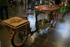 Beer, pizza, cargo bike. 3.