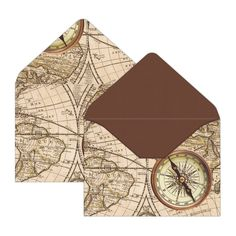 Illustrated with atlas map theme, this Time Travel mini envelope will surely keep your messages safe and secured. Its vintage background topped with compass acc