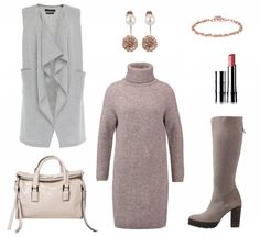 #Herbstoutfit Beige ♥ #outfit #Damenoutfit #outfitdestages #dresslove