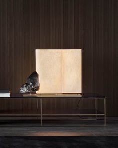 Proposed in different heights and sections in the floor and table versions, the Blanche lamps are characterised by new proportions and are illuminated from the inside by a diffuse fluorescence. Lighting Design, Table Lamp, Flooring, Inspiration, Furniture, Lamps, Home Decor, Villas, Sofa
