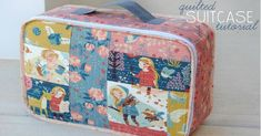 Mommy by day Crafter by night: Quilted Suitcase Tutorial Met linkjes naar snelle/simpele Patchwork uitleg Purse Patterns, Sewing Patterns Free, Free Sewing, Free Pattern, Sewing Projects For Beginners, Sewing Tutorials, Sewing Tips, Sewing Hacks, Quilt As You Go