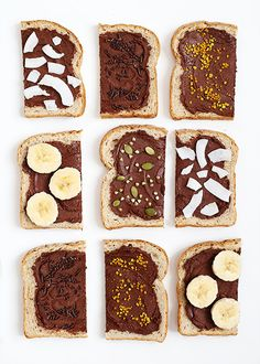 I slathered the first year of motherhood with nutella. (There's proof of that right here.) It needed Breakfast Recipes, Snack Recipes, Breakfast Ideas, Dessert Recipes, Nutella Recipes, Nutella Snacks, Protein, Pumpkin Spice Cupcakes, How Sweet Eats