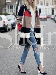 Shop Black Long Sleeve Color Block Coat online. SheIn offers Black Long Sleeve Color Block Coat & more to fit your fashionable needs.