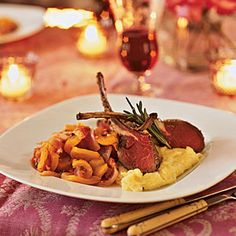 10 Romantic Dinners for Two   Roasted Rack of Lamb   CookingLight.com