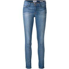 Frame Denim skinny fit jeans (217 CAD) ❤ liked on Polyvore