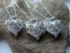 Wedding Silver Heart Locket Sea Glass Beach by beachglassshop, $25.00
