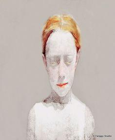 RED HAIR GIRL pendant by TwiggyStudio on Etsy, €40.00