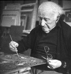 Marc Chagall in his studio c. 1972