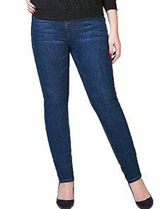 ADELINA Pantalones Vaqueros Slim Fit De Las Elásticos Mujeres Ropa  Pantalones De Cintura Flaco Cintura Alta 682104d2048