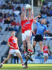 Cork\'s Andrew O\'Sullivan and Fintan Goold with Paul Flynn of Dublin. Semi Final, Dublin, Division, Cork, Chill, Football, Baseball Cards, Sports, Photography