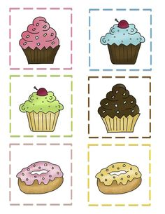 Preschool Printables: Cupcake Pattern Cards