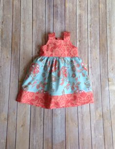 Easter spring  Boutique Girls knot dress, sizes 1-8 on Etsy, $45.00