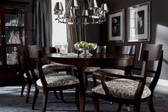 These dining room chairs look really comfortable for a long dinner!