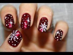 Christmas snowflakes | #nail #designs