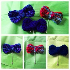 Crochet Bow Lapel Pin by DaKutestKreations on Etsy, $15.00