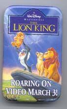 Disney Lion King Pride Rock Cast Member Promo pin/button