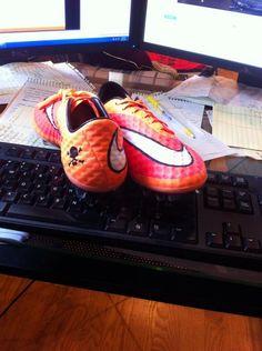 Hyper Crimson Nike Hypervenom Phantom FG Soccer Cleats.