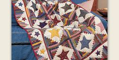 Let Your Imagination Go with Fabric and Color Selection! Traditional Log Cabin blocks in the Sunshine and Shadows setting create a backdrop for colorful appliqued stars in this stunning quilt. Reproduction prints in 1890s style give the quilt classic appeal. Other fabric styles will be just as lovely. Modern prints will give it an updated …