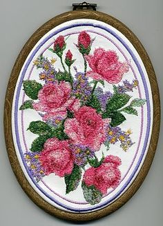 Advanced Embroidery Designs - Pink Roses