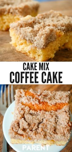 Cake Mix Coffee Cake is an easy breakfast recipe to make using yellow cake mix! You can make it in recipes, as a bundt cake, or just a sheet cake! Recipes Using Cake Mix, Easy Cake Recipes, Dessert Recipes, Desserts, Recipes Using Sour Cream, Drink Recipes, Cake Mix Coffee Cake, Sour Cream Coffee Cake, Simple Coffee Cake Recipe