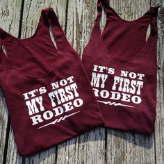 Check out our new summer tank, Its not my first rodeo ! These tanks are American Apparel womens tanks. Please refer to the size chart attached