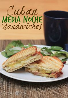 Enjoy this simple recipe, perfect for Thanksgiving leftovers, for Cuban Medianoche sandwiches.
