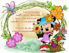 V noci hviezdy padali, snáď Ti zdravia, šťastia dodali. Správny vietor nech Ti stále veje a slniečko sa na Teba stále smeje. Všetko naj, naj, naj ... k dnešnému peknému dníčku Bowser, Princess Peach, Good Morning, Minnie Mouse, Disney Characters, Fictional Characters, Have Fun, Art, Motivational