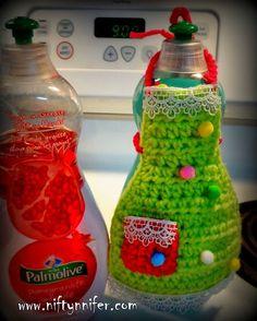 Dish Soap Apron Free Crochet Pattern By Niftynnifer PDF