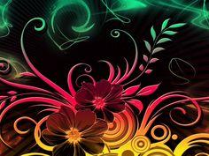Dibujo de flores y ramas (1280x960)