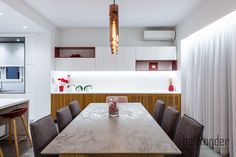 Dining table - Grey stone & wood Grey Stone, Conference Room, Dining Table, Construction, Wood, Projects, Furniture, Design, Home Decor