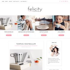 Blogger Template Responsive-Felicity by Georgia Lou Studios on @creativework247