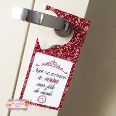 tag para porta noiva se arrumando