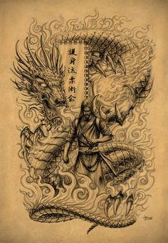 Samurai Dragon by Loren86.deviantart.com on @deviantART #dragon #tattoos #tattoo